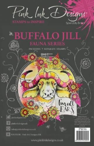 Pink Ink A5 Buffalo Jill Clear Stamp Set